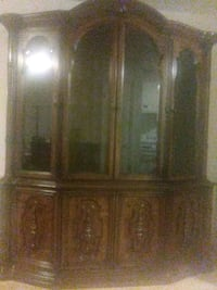 brown wooden framed glass display cabinet Columbia, 29203