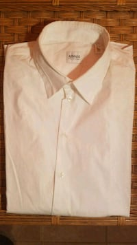 Georgio Armani Button Down Shirt In Solid White , Pre-owned  Owings Mills