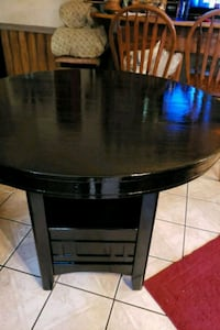 round black wooden pedestal table 800 mi