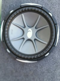 round black and gray Kicker subwoofer National City, 91950