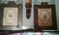 two rectangular brown wooden photo frames Troy, 63379