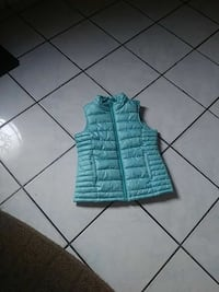 teal leather full-zip vest Castroville, 95012