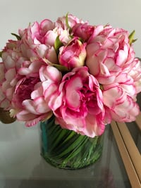 Faux Magenta & Pink Peony in Glass Vase Mc Lean, 22102