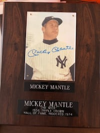 baseball memorabilia Nolan Ryan, Joe Diamaggio, Mickey Mantel, Cal Rip Ashburn, 20147