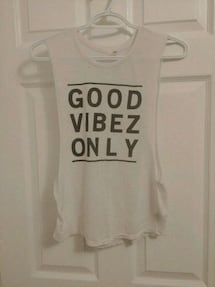 Size S - Garage white tank top
