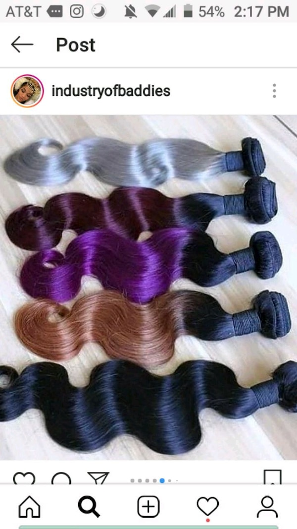 Used Four Black And One White Hair Extensions For Sale In Brooklyn