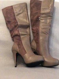 Brown Leather and Suede Boots