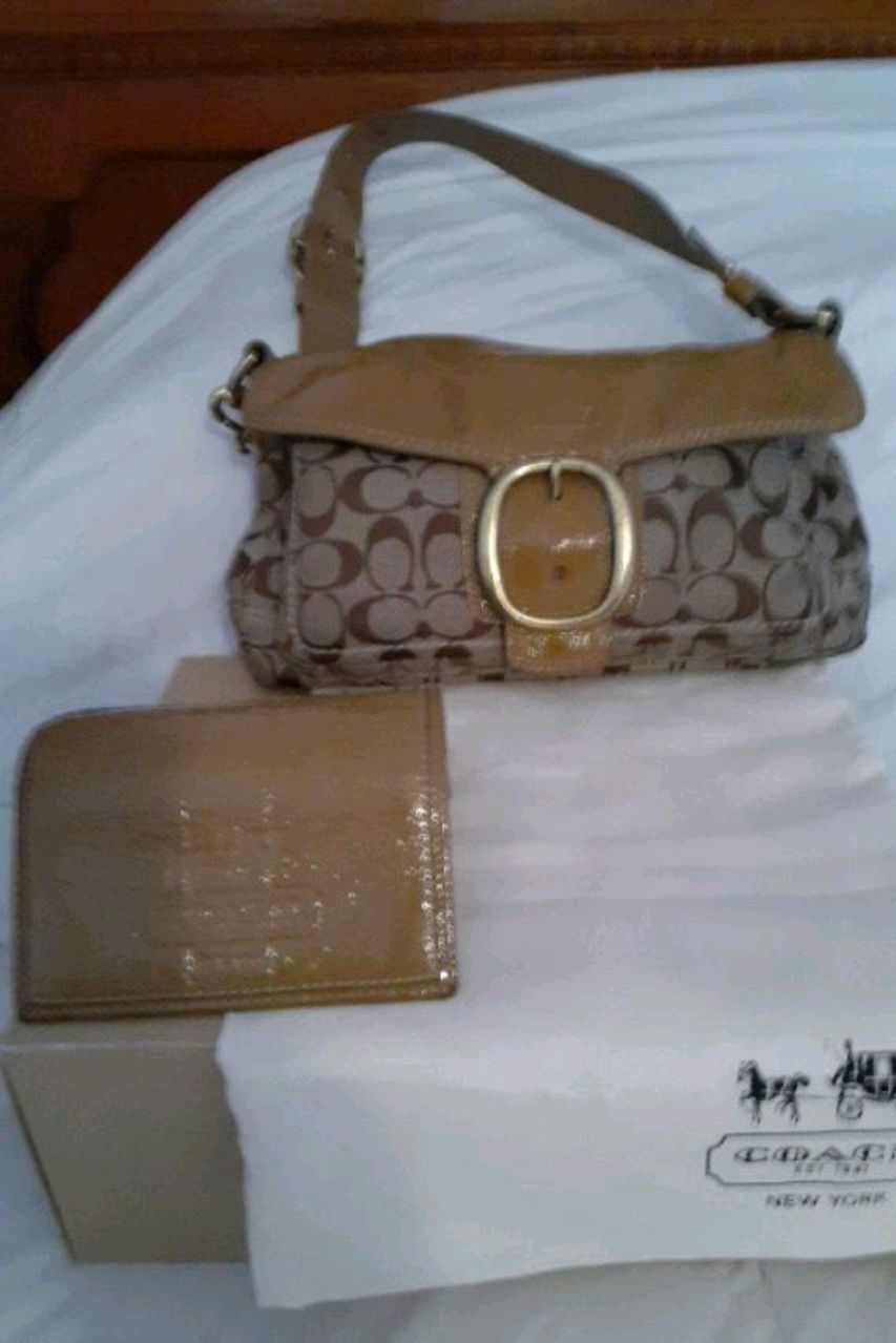Photo Coach Bag And Wallet And Bag