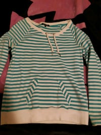 white and green striped pullover hoodie Waterloo, N2J 3Z4