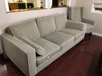 Gray fabric sofa with one chiar 732 km