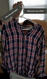 blue white and red plaid print dress shirt Indianapolis, 46203