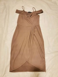 Sand Colored Dress with Shoulder Detailing Calgary, T3P 0B1