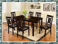 7 pc dining table new dining room set  Falls Church, 22041