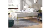 Gold Platform Bed Frame - Queen Size 46 km