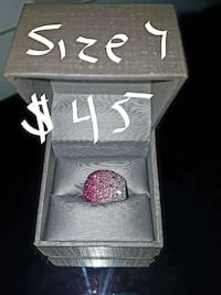 silver and pink gem studded ring in box Conception Bay South, A1W 4C7