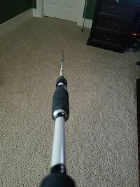 white shimano fishing rod