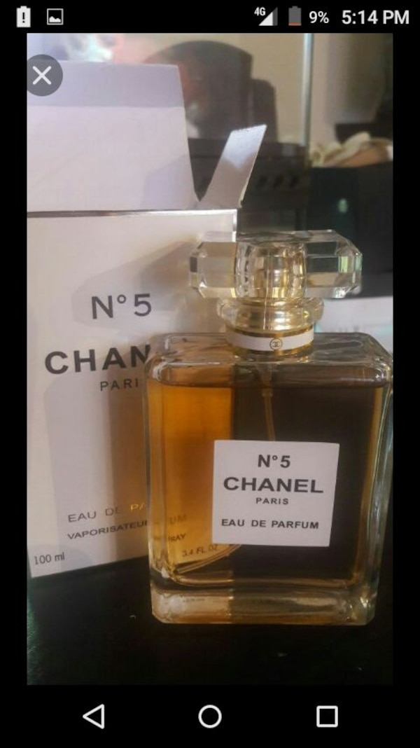 Used 100 Ml N Degrees 5 Chanel Pairs Eau De Parfum With Box For Sale
