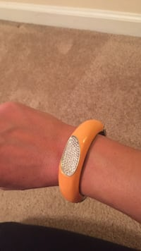 orange diamond embellished cuff bracelet Winchester, 22601