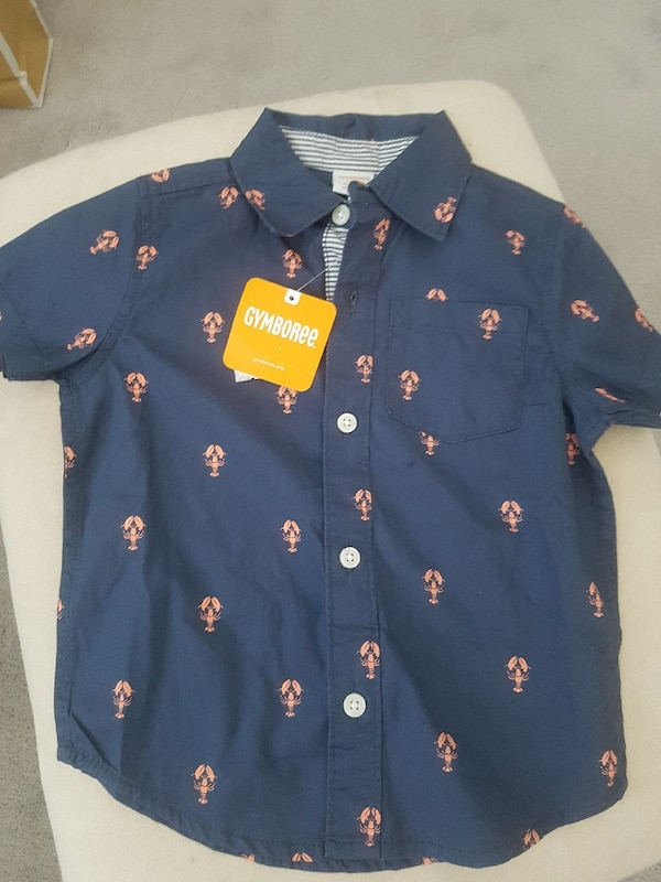 fd845694 Brukt boy's black and brown Gymboree button-up collared shirt til salgs i  Oshawa