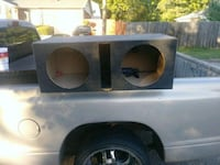 gray and black subwoofer enclosure Augusta, 30906