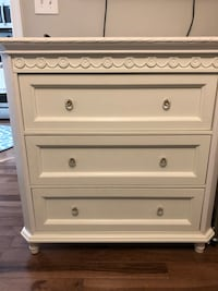 White 3 Drawer Dresser Pasadena, 21122