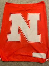 HUSKERS PLAYER ISSUED GIANT WATER PROOF LAUNDRY BAG/ BACKPACK/BEACHBAG