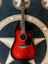 Traditional cutaway acoustic electric guitar Calgary