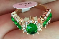 Gold plated green ring  Atkins, 72823