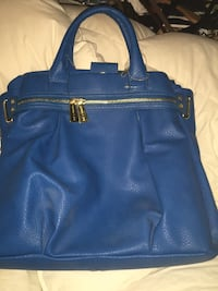 blue leather 2-way bag Red Hook, 12571