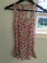 women's pink and white floral sleeveless dress Langley, V2Y