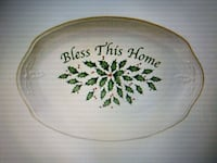 Lenox Holiday Bless This Home Tray . brand new Safety Harbor