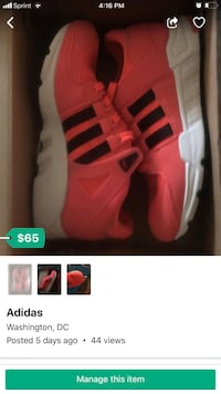 pair of red adidas Superstar shoes screenshot 48 km