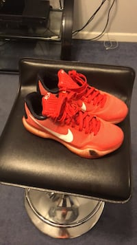 pair of red Nike running shoes Mount Wolf, 17347