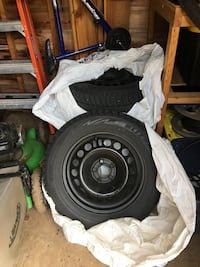 215/60R16 Bridgestone Blizzak winter tires with rims, rubber three seasons old and rims two seasons. Rims sized for a 2014 Chevy cruz. Toronto, M1M 2M9