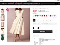 GORGEOUS WHITE DRESS SIZE SMALL Clearview, L0M