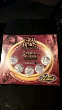 Lord of the rings coin set (the two towers)