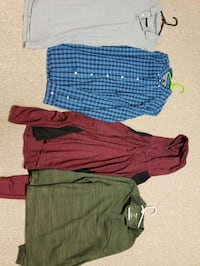 four assorted-color polo shirts 322 mi