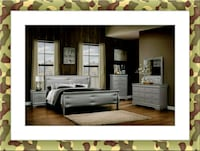 Grey Marley 11pc bedroom set free mattress& deliv Ashburn, 20147