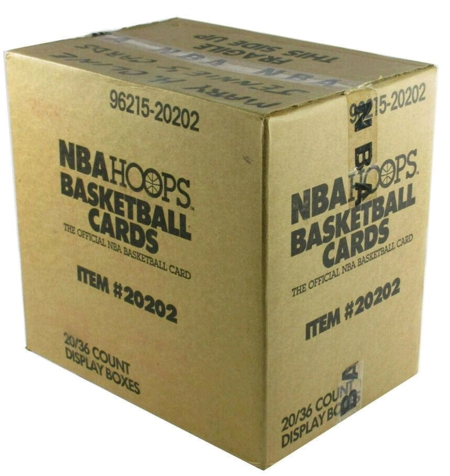 Photo 1989-90 NBA Hoops Basketball Card Case Michael Jordan David Robinson