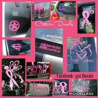 Pink decal stickers York