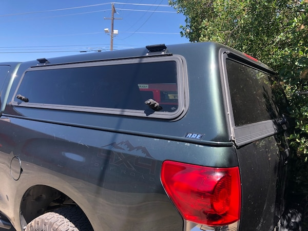 ARE camper shell on toyota tundra