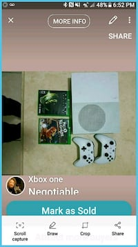 Xbox One console with controller and game case Laredo