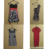 women's red cardigan;black and gray one shoulder dress;black and white sleeveless scoop neck top Knoxville, 37918