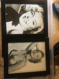 Two marilyn monroe portraits with black wooden frame San Jose, 95125
