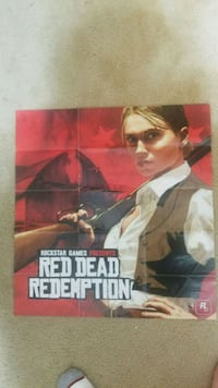 "Red Dead Redemption ""Bonnie"" poster and map. Manassas, 20110"