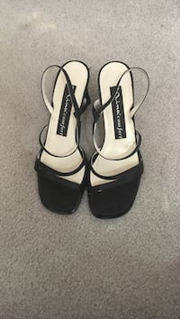 Black-and-white open-toe sling-back heels Silver Spring, 20906