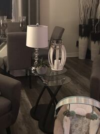 Table lamp and matching floor lamp