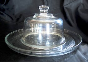 Glass Serving Platter with Dome