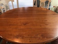Round Maple Ethan Allen Dining Table Leesburg, 20176