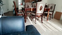 6 pc Beautiful Solid Wood Table - $600.00